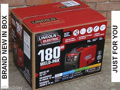 *BRAND NEW LINCOLN ELECTRIC 180 HD WELD-PAK K2515-1 MIG/FLUX WIRE FEED WELDER*
