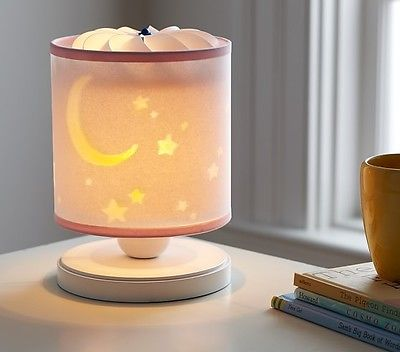 Pottery Barn Kids Moon & Stars Spin Lamp New in Box!