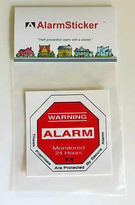 4 Home Security Alarm Stickers
