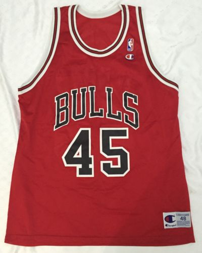 Vintage MICHAEL JORDAN #45 Champion NBA Jersey Men's 48