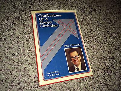 CONFESSIONS OF A HAPPY CHRISTIAN Book ZIG ZIGLAR Hardcover Self Help Success