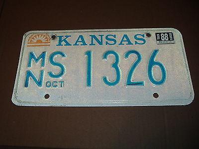 1988 Kansas License Plate MN S 1326