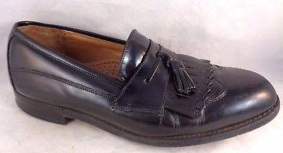 JOHNSTON MURPHY 9.5 J. Murphy Dress Loafers Tassel Slip on Shoes Black