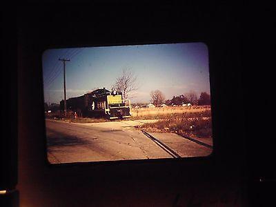 35 mm slide 1950's Train Fair Steam Engine Railroad midland Cargo crossing PA #1