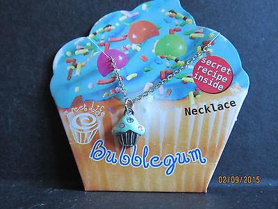 Bubblegum CUPCAKE NECKLACE W/ Swarovski Crystal accent-Made in USA!!