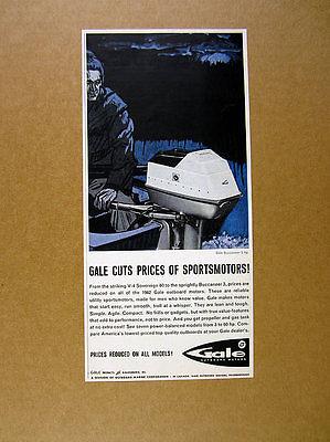 1962 Gale Buccaneer 5 hp Outboard Motor vintage print Ad
