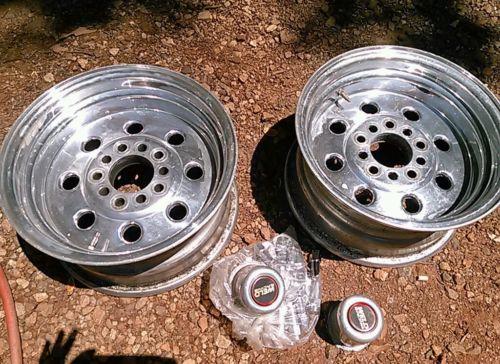 5 lug Weld Drag Lite Wheels 14x 8 Set of Two