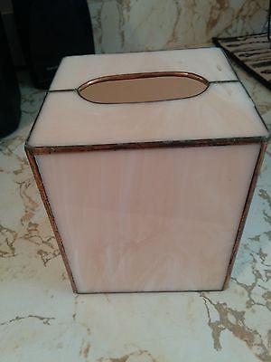pink tissue box holder