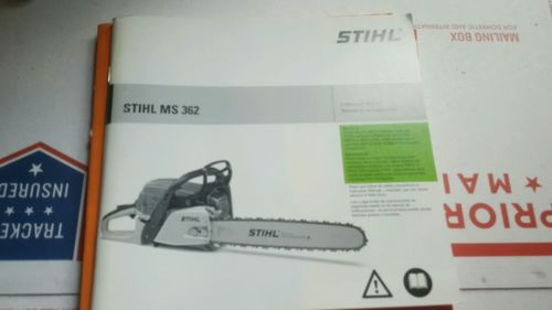 STIHL MS 362 CHAINSAW OWNERS MANUAL