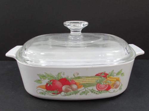 Corning Ware Garden Harvest Casserole Bake Dish with Lid USA