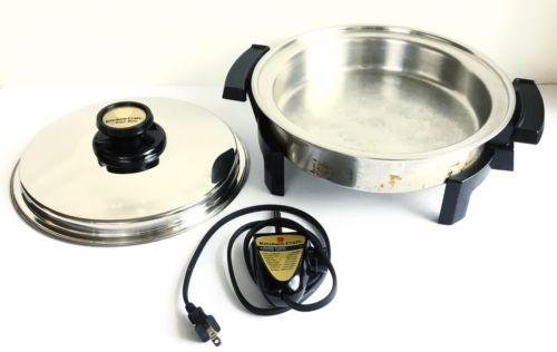 KITCHEN CRAFT WEST WATERLESS BEND LIQUID CORE ELECTRIC SKILLET