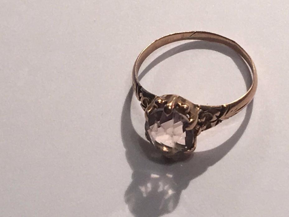 Antique Rose Gold Aquamarine Ring