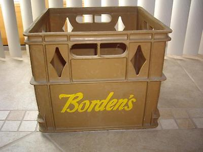 Vintage Plastic Milk Crate Borden