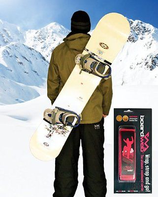 Skiweb Boardweb Snowboard Carrier - Hands Free Carry strap for snowboards,