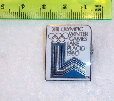 1980 XIII Olympics Winter Games Lake Placid Souvenir Pinback Pin