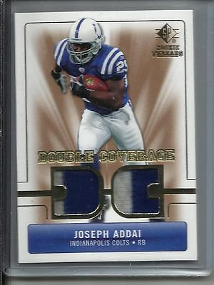 Joseph Addai 2007 SP Rookie Threads Game Used Jersey Patch