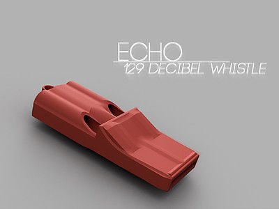 3d printed item 3d printed survival whistle 3d printed object ECHO 129 db