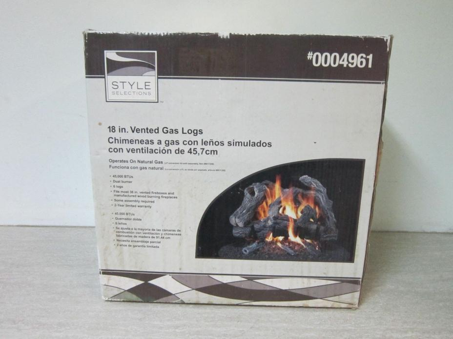 Gas Fireplace Logs 18 Inch Vented  NEW Conditoin by Style Selections #0004961