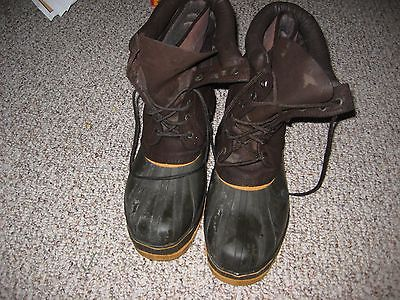 PRO LINE MENS INSULATED RUBBER  BOOTS SIZE 12  STEEL SHANK 2 PEICE