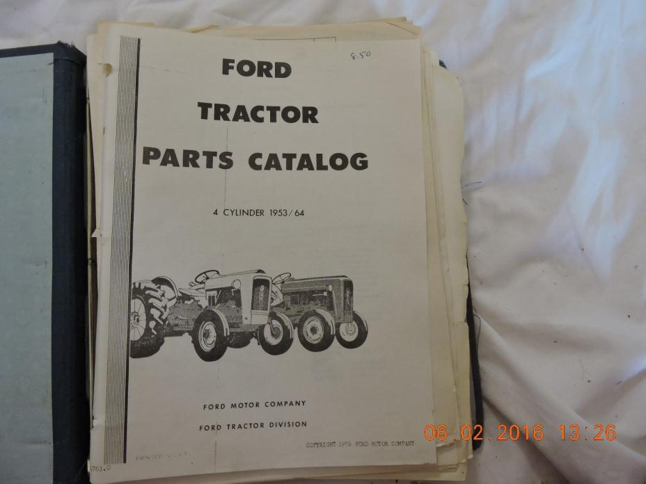 Ford Tractor Catalog 1953 -1964 Vintage