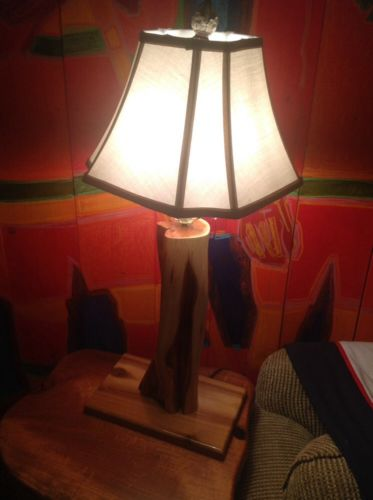 Cypress Tree Lodge Cabin Lamp  Log Furniture
