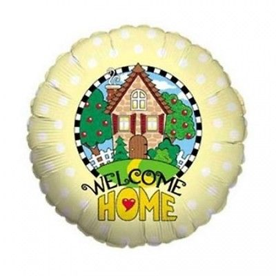 Welcome Home Metallic Balloon. Delivery is Free
