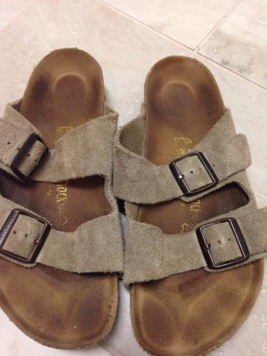 Birkenstocks size 40 Taupe Suede Great Condition!