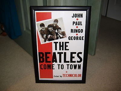 The Beatles come to town vintage movie poster print lobby card 12.5