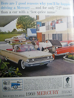 1960 Mercury Ad 8.5 x 10.5