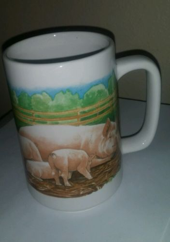 Coffee Cup Mug Otagiri Japan Kurt R Kress Pigs Hogs Farm Barn Country