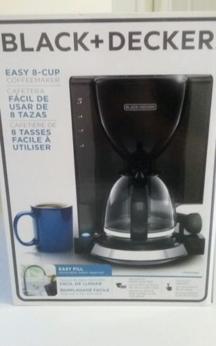 Black and decker Easy 8 cup coffee maker