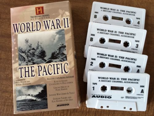 History Channel AUDIOBOOK World War II The Pacific, 4 cassette tapes 2001