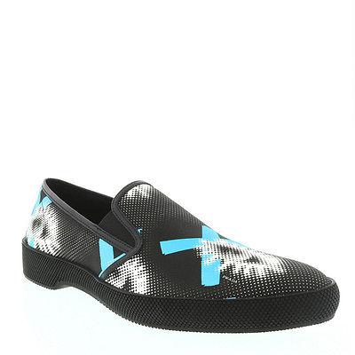 Prada Men's Black Printed Slip On Sneaker