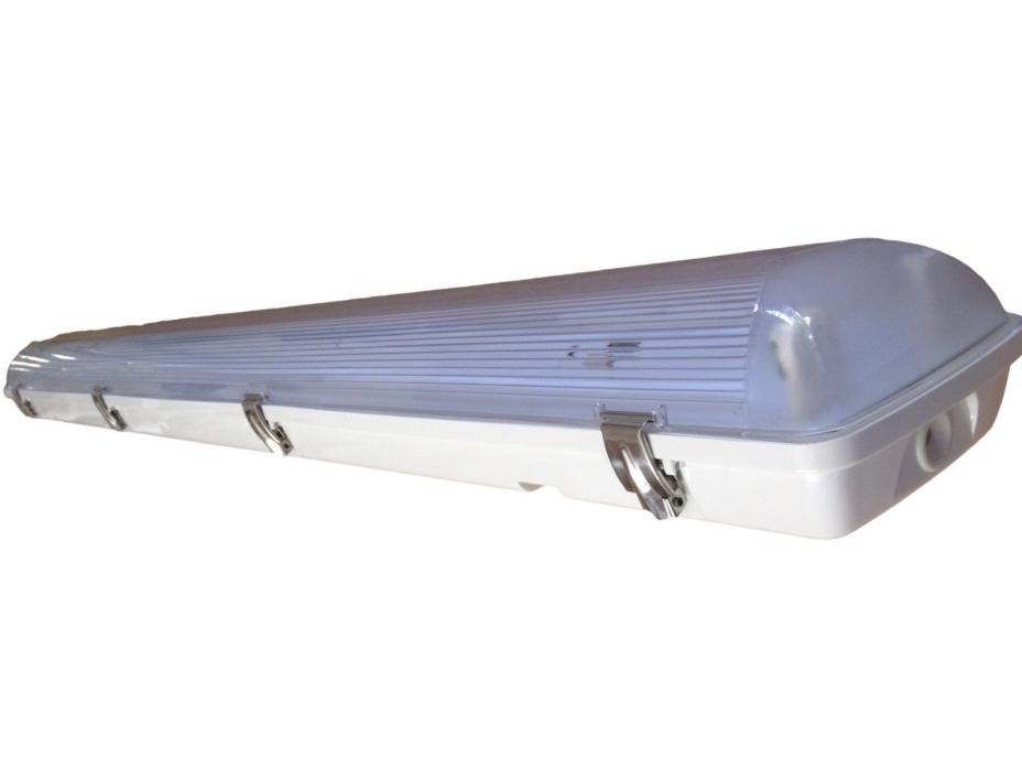 LED Vapor Tight Fluorescent Light Fixture 4' Two Lamp = T8 32 Watt Fluorescent