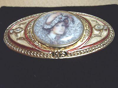 Vintage Avon Award Pin Mrs Albee Cameo Brooch for Honor Society Victorian