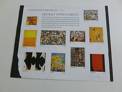 United States Scott 4444,  the Abstract Arts Souvenir Sheet