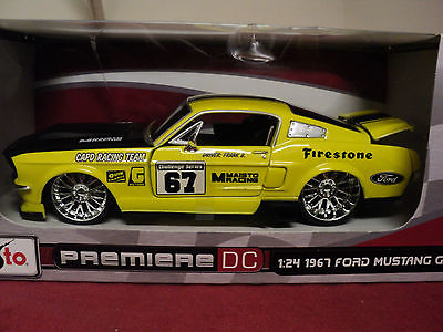 Maisto 1967 Ford Mustang GT  1/24 scale new in Box  Pro Rodz
