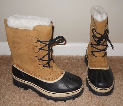 Sorel Caribou Men's Winter Boots Buff Tan Brown Size 10