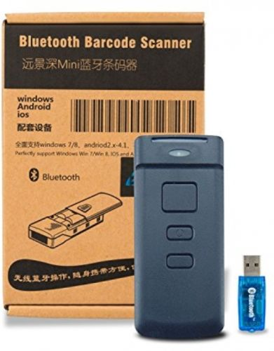 BLUEHRESY CT30 Mini Portable 1D Bluetooth Laser Barcode Scanner Wireless 10,000