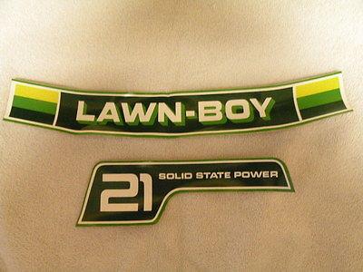 LAWN-BOY VINTAGE DECALS, STICKERS, LAWN MOWER PARTS, NEW