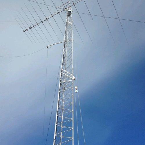 Ham radio tower and antenna 90 foot high located near Colorado city az