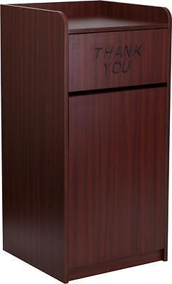 Flash Furniture Wood Tray Top Receptacle in Mahogany Finish  MT-M8520-TRA-MAH-GG