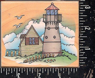 Hero Arts Wood Mounted Stamp Lighthouse