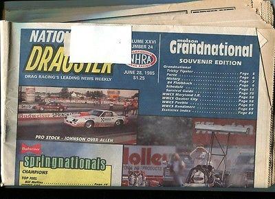 NATIONAL DRAGSTER-6/28/85-SOUVENIR EDITION-MOLSON GRANDNATIONAL-NHRA VG