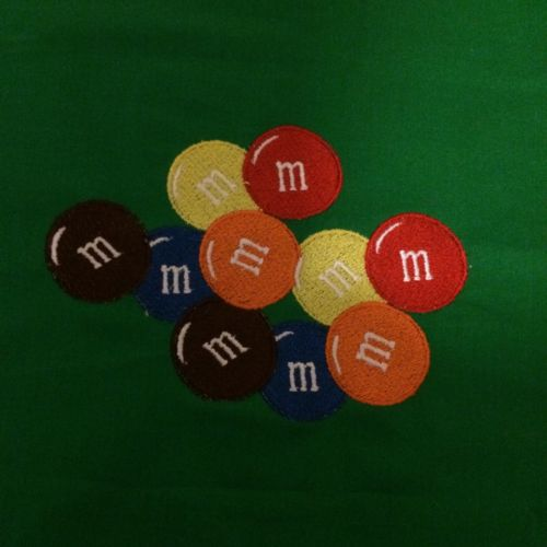 Personalized Embroidery Fleece M & M Baby Blanket