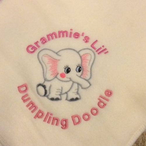 Personalized Embroidery Baby Fleece Elephant Blanket