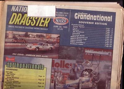 NATIONAL DRAGSTER-NHRA-6/28/1985-SOUTHERN NATIONALS- VG