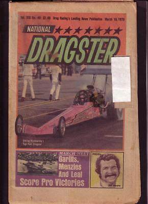 NATIONAL DRAGSTER-NHRA-3/16/79-BECK-UYEHARA-THARP-RUTH- VG
