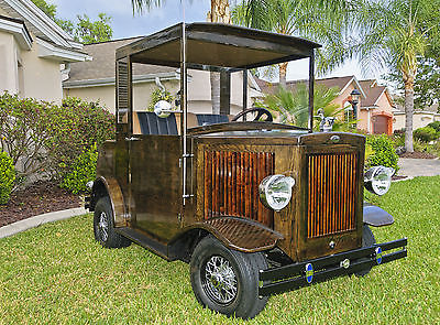 Custom Built Wooden Golf Cart
