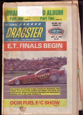 NATIONAL DRAGSTER-NHRA-09/9/83-E.T.FINALS-BILL CARTER- VG